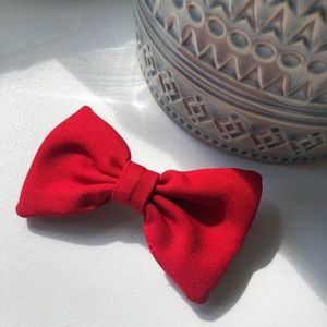 AA red hair bow clip